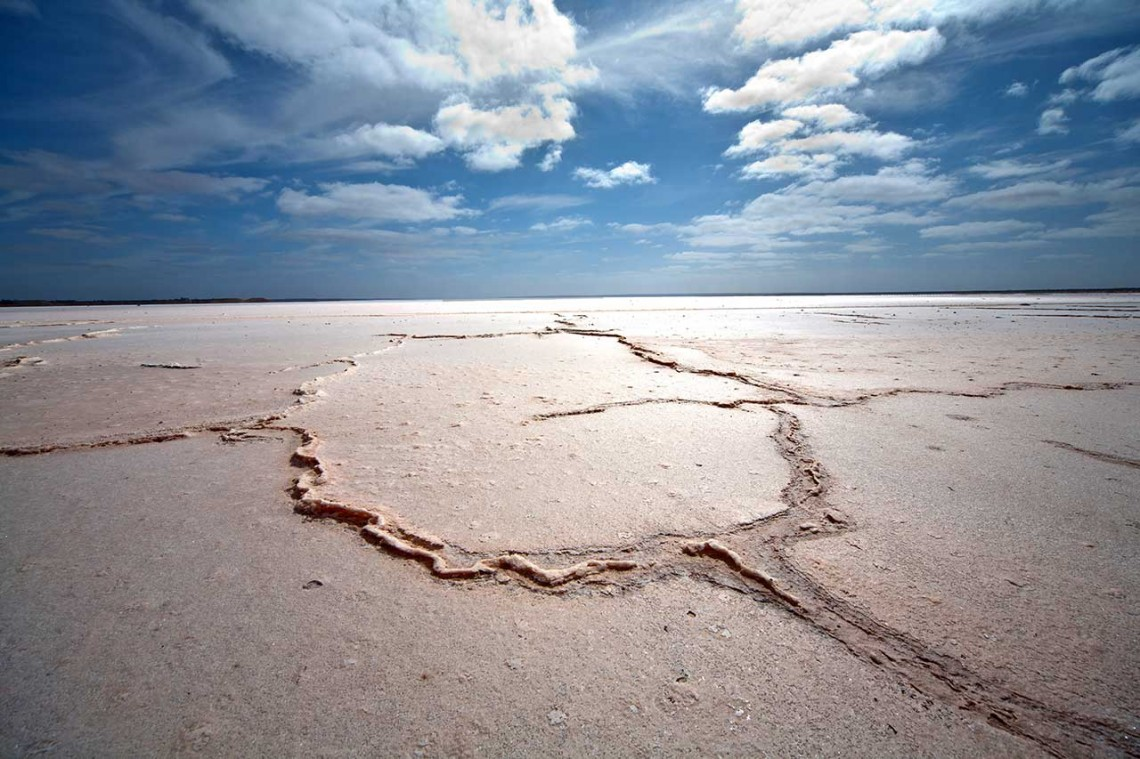 Salt crust on Lake Eyre